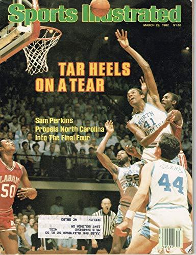 1982 Tar Heels - SI: Sports Illustrated March 29, 1982 Tar Heels on a Tear Sam Perkins NC GOOD