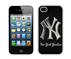 Popular And Durable Custom Designed Case For iPhone 4S With New York Yankees 1 White Phone Case