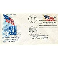Charles Lindberg WWII War Iwo Jima Flag Raiser Marine USMC Signed Autograph FDC - NFL Cut Signatures photo
