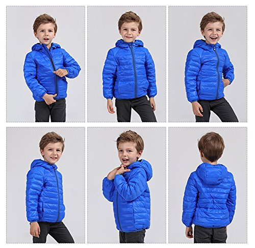 Jacket Down Hoodie Boys Fairy Pink Lightweight 2 Baby Size Girls Baby Packable 3T Kids Winter Coats blue wBnXqAY