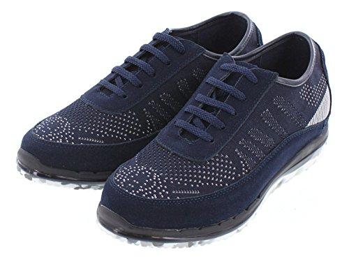 Toto D22034-2.4 Pouces De Hauteur - Hauteur Augmentant Les Chaussures Dascenseur - Baskets Mode Bleu Foncé