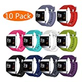 Fitbit Ionic Bands, KingAcc Soft Accessory Replacement Band for Fitbit Ionic, With Metal Buckle Fitness Wristband Strap Women Men (10-Pack, 10 Colors, Small)