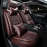 HOMEE@ High-Grade Leather Car Cushion Wear-Resistant Anti-Peeling Breathable Four Seasons Pad , Brown,brown