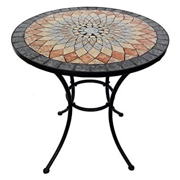 Art Deco - Table Ronde Mosaique Resine 70 cm: Amazon.fr: Cuisine ...