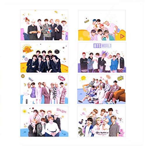 Chutoral Kpop BTS Photocards Set, Bangtan Boys Member TPU Transparent Photo Cards Ins Postcards, Gifts for Army Daughter(H01 8pcs) from Chutoral