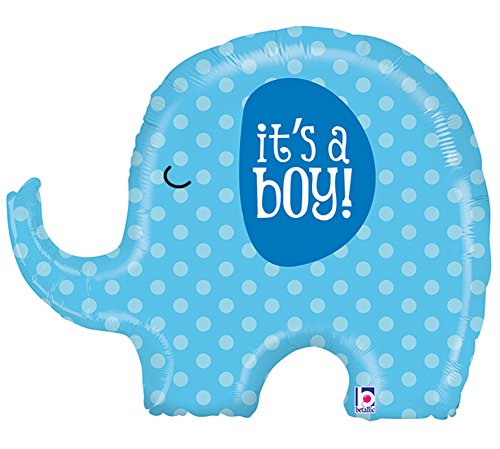 Blue Elephant Shower Party Balloon product image