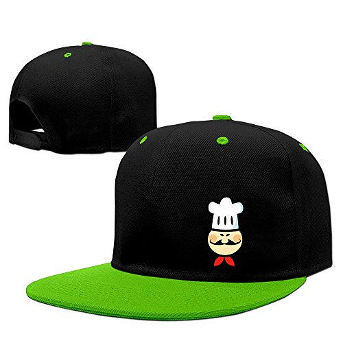 Unisex LunaCp Chef Chefs Cook Cooking Food Cartoon Funny Hip-Pop Hat KellyGreen One Size (Chef Dustin Hoffman compare prices)