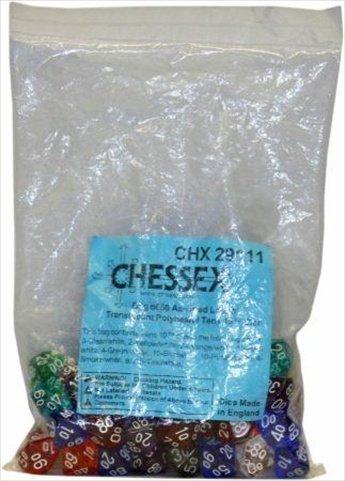 新品同様 Chessex: 10 Translucent Tens 10 Assorted Tens Assorted Bag (50) B001SV91RS, イイシグン:6124e371 --- cliente.opweb0005.servidorwebfacil.com