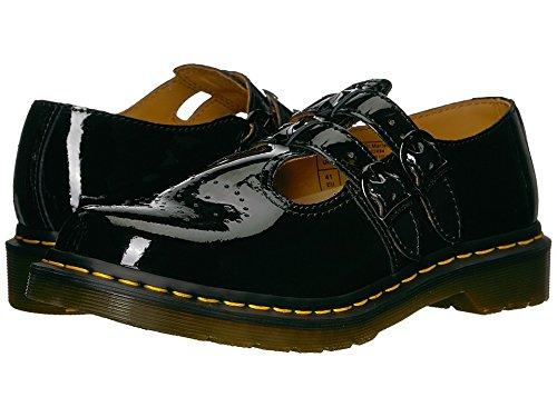 Dr. Martens Women's 8065 Mary Jane Flat, Black Patent Lampar, 6 Medium UK (8 US)
