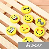 120 pcs/Lot Smile face Erasers rubber for pencil funny cute stationery Novelty eraser Office supplies