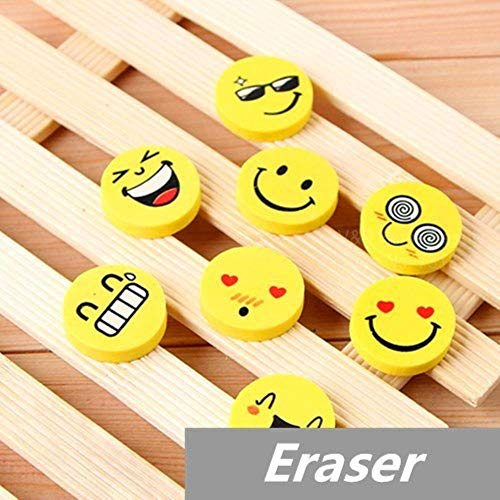 120 pcs/Lot Smile face Erasers rubber for pencil funny cute stationery Novelty eraser Office supplies by PomPomHome (Image #1)