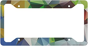 Colored Triangles Car Tag Frame Airstrike Geometric License Plate Frame Cute License Plate Frame-30-725 Geometric License Plate Holder