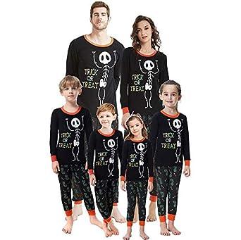 Pijama de la Familia de Halloween Set Adulto Mamá Disfraz ...