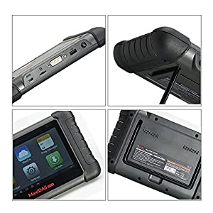AUGOCOM Autel MaxiDAS DS808K with Full Connector Kit Table Auto Diagnostic Tool Support Injector Coding and Key Coding Upgrade Version of DS708 Light Package