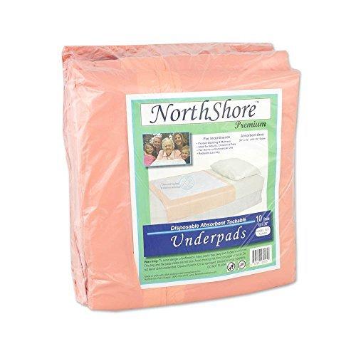 NorthShore Premium, 30 x 36, 50 oz, Tuckable Disposable Underpads, Pack/10