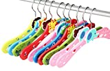 Liitrton 10 Pcs Cute Animal Wooden Children's Clothes Hangers Colorful Cartoon Coat Hanger (Random Color)