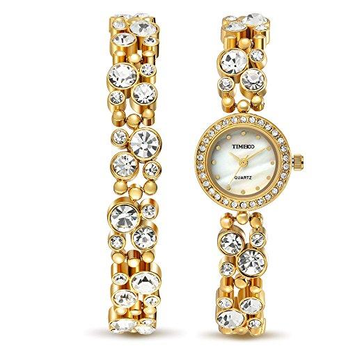 Bracelet Diamond Dial Watch (Time100 Women's WatchesBracelet Diamond Round Dial Watch Ladies Fashion Dress Watches Wrist watches for women)
