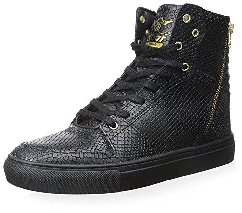 Creative Recreation Men's Adonis Sneaker, Black Snake Gold