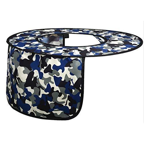 Helmet Sun Shade 2 PCS Hard Hat Sun Neck Shield Full Brim Helmet Sunshade Protector with Adhesive Hook