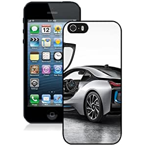 NEW Unique Custom Designed iPhone 5S Phone Case With BMW I8 Back Silver_Black Phone Case