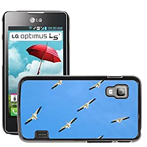 Super Stella Slim PC Hard Case Cover Skin Armor Shell Protection // M00144792 Birds Animals Pelicans Family Flight // LG Optimus L5 II Dual E455 / E460