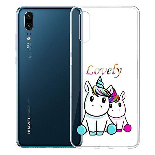 Cover para Huawei P20 (5.8) , WenJie Ultrafino Transparente Accesorios Regalo gatito Silicona Suave Funda Case Tapa Caso Parachoques Carcasa Cubierta para Huawei P20 (5.8) WM138