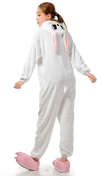 MizHome White Rabbit Cosplay Pajamas Anime Costume Homewear Lounge Wear S-XL