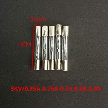 KeoKasu - 20 piezas 5 KV 0,75 A 0,65 A 0,7 A 0,8 A 0,9 A 650 mA ...