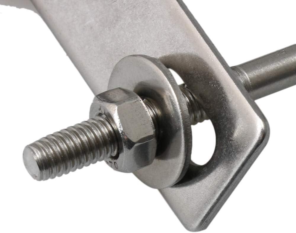 Bullone a U quadrato ad alta resistenza con dadi di bloccaggio e rondelle Mxfans argento M3190402092