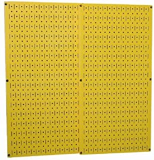 product image for Yellow Metal Pegboard By Wall Control - 2 Pack