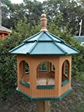 Large Gazebo Vinyl Bird Feeder Amish Homemade Handmade Handcrafted Cedar & Green