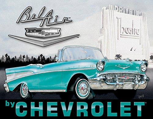 Chevy - '57 Bel Air Tin Sign , 16x13 (Bel Air Tin Sign)