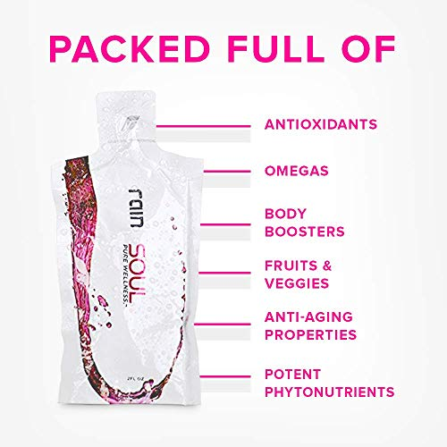 Soul Antioxidant Supplement Powerful Superfood Anti-Inflammatory Packed Full of Vitamins and Minerals/Seed-Based Non-GMO Organic Easy Open and Ready to Drink Pouches (2 Ounces) 30 Per Box by RAIN by RAIN (Image #3)