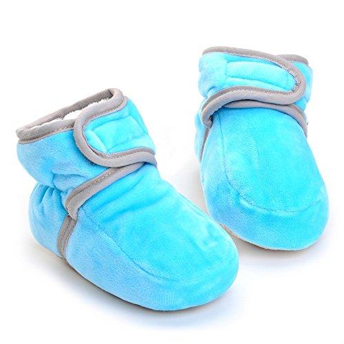 Botas de Bebé, de Invierno, Cálidas, acolchadas, para niñas azul marino Talla:3-6 meses Azul
