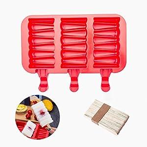 Popsicle Molds Stampo Per Gelato Popsicle Maker Popsicle Stampi Ghiacciolo Rosso Rettangolo Con Popsicle Stick… 4 spesavip