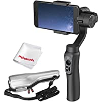 Zhiyun Smooth Q 3 Axis Smartphone Gimbal with Mini Tripod for Iphone 7 Plus 6 Plus Samsung Galaxy S7 S6 S5 Wireless Control, No More Counterweight, Vertical Shooting, 12hrs Run -Time - Black