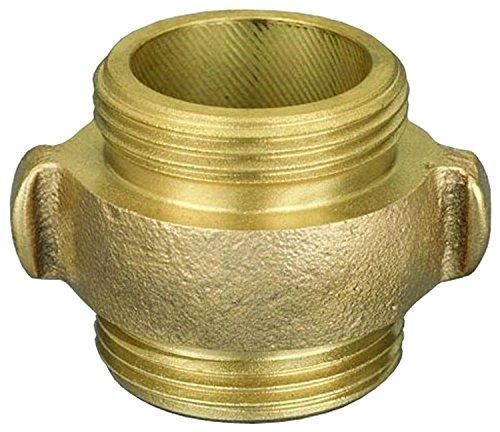 Dixon DMR1515F 1-1/2'' MNST x 1-1/2'' MNST Double Male Rocker/Lug, 1.5'' ID, Brass