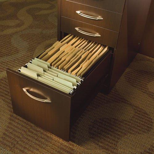 Mayline - Aberdeen Series Pencil/Box/Box/File Laminate Desk Pedestal 15¼ x 26½ x 27½,Mocha APBBF26LDC (DMi EA