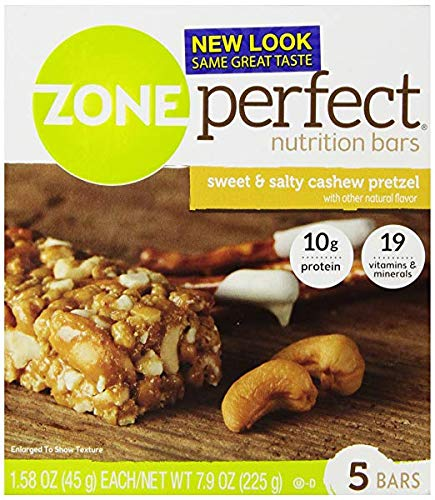 (Zone Perfect, Nutrition Bars, Sweet & Salty Cashew Pretzel (Pack of 2))