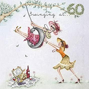 60th Birthday Card QuotSwinging At 60quot Ladies
