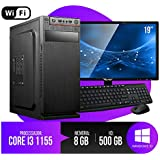 PC Completo Intel Core i3, 8GB RAM, HD 500GB, Monitor LED, Wifi, Teclado e Mouse!