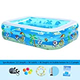 Inflatable pool/wading pool, Easy Set Pool, Intime Foldable Rectangular inflatable, 3 rolls diameter 150 cm height 51 cm,2