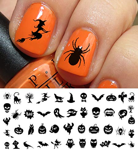 (Halloween Nail Decals Assortment #3 - WaterSlide Nail Art Decals - Salon)
