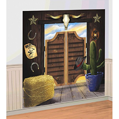Amscan Party Supplies YeeHaw Western Selfie Scene Setter -