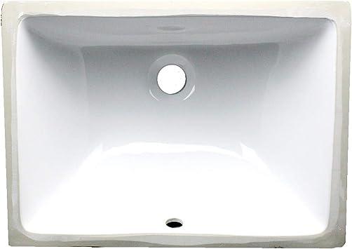 Nantucket Sinks Um 16x11 W 16 Inch By 11 Inch Rectangle Ceramic Undermount Vanity White Amazon Com