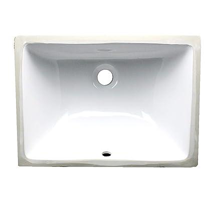 . Nantucket Sinks UM 16x11 W 16 Inch by 11 Inch Rectangle Ceramic