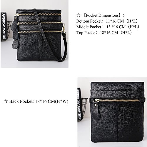 for Water Resistant Women Genuine Body Cross Sale IBFUN Shoulder Multi phone Cell Clearance Bags Small Bag Bag Leather Purses pockts Crossbody nO7Yw4qA