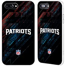 Official NFL Blur New England Patriots Logo White Fender Case for Apple iPhone 7 Plus / iPhone 8 Plus