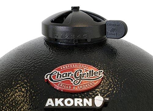 Char-Griller 6714 Akorn Jr Kamado Kooker Charcoal Grill, Black