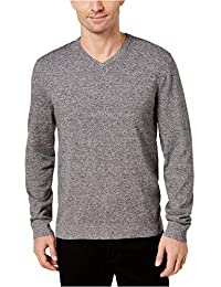 Mens Ribbed Trim Long Sleeves Pullover Sweater